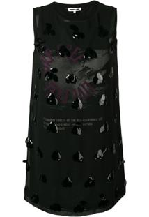 Mcq Alexander Mcqueen Vestido Com Detalhe De Aplicação - Preto