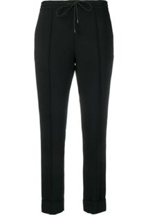 Kenzo Slim Fit Drawstring Trousers - Preto