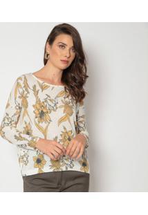 Blusa Floral - Off White & Amareladudalina