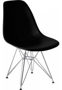 Cadeira Com Encosto Polipropileno Flórida Siena Móveis Preto
