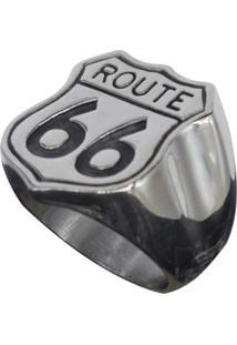 Anel Kodo Acessórios Route 66 Prata