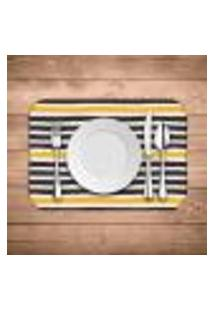 Jogo Americano Wevans Abstrato Stripes Kit Com 4 Pçs