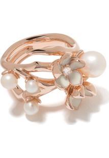 Shaun Leane Anel Cherry Blossom Com Flor De Diamante E Pérola - Rose Gold Vermeil