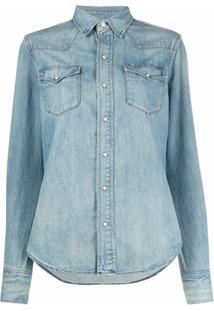 Polo Ralph Lauren Camisa Jeans Western - Azul