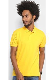 Camisa Polo Forum Piquet Masculina - Masculino-Amarelo