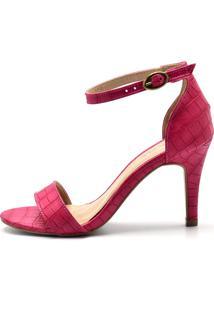 Sandália Social Rosa Pink Flor Da Pele