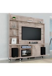Estante Home Para Tv Até 47 Polegadas 1 Porta Taurus Móveis Bechara Vanilla Rústico