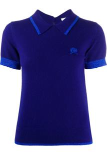 Hilfiger Collection Knitted Crest Logo Polo Shirt - Azul