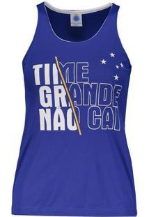 0340120f9c Fut Fanatics Regata Cruzeiro Wink Feminina Azul. Ir para a loja  Regata  Cruzeiro Feminina