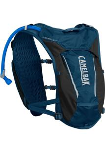 Mochila De Hidratação Camelbak Circuit Vest 1,5 Litros Trail Running Azul Com Preto