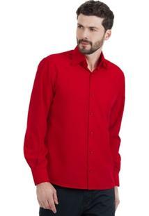 Camisa Di Sotti Microfibra Vermelha - Masculino