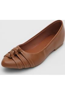 Sapatilha Dafiti Shoes Tiras Caramelo - Caramelo - Feminino - Sintã©Tico - Dafiti