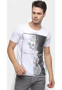 36f17861d ... Camiseta Derek Ho Guitar Rose Masculina - Masculino-Branco