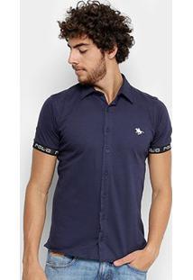 Camisa Rg 518 Manga Curta Malha Estampa Masculina - Masculino