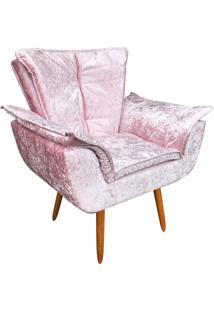 Poltrona Decorativa D'Rossi Opala Acetinado Rose