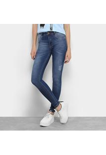 bdd6cbe38 ... Calça Jeans Skinny Biotipo Melissa Cintura Média Feminina - Feminino