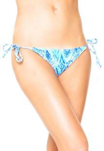 Calcinha Fiveblu String Jéssica Branca/Azul