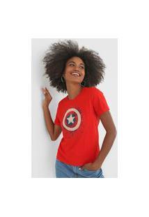 Blusa Cativa Marvel Capitão América Vermelha