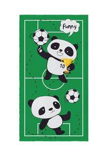 Lepper Toalha De Banho Felpuda Pandas & Futebol Verde Escuro & Preta 6