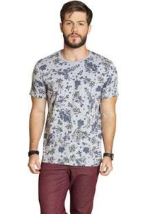 Camiseta Surf.Com Manga Curta Masculina - Masculino-Cinza