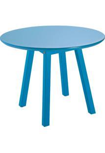 Mesa Lateral Tramontina Baixa Oval 91452/051 Azul Se
