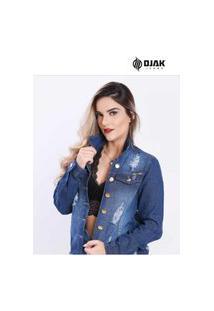 Jaqueta Jeans Feminina Djak 706 Moda Fashion Lançamento 2021 Exclusiva