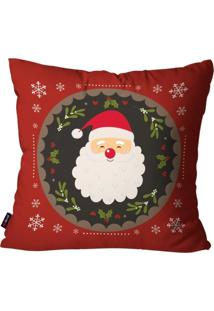 Capa De Almofada Pump Up Decorativa Avulsa Natalina Papai Noel Com Enfeites Natalinos 45X45Cm - Vermelho - Dafiti