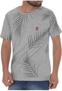Camiseta No Stress Manga Curta Masculina - Masculino-Cinza
