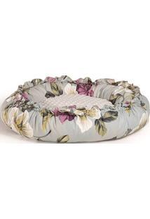 Puff Boia Maior Floral Almofada Branca 70Cm - 62325 - Sun House