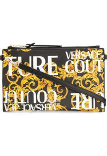 Versace Jeans Couture Baroque Print Clutch Bag - Preto