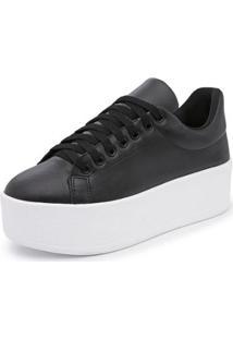 Tênis Platform Top Franca Shoes Feminino - Feminino-Preto