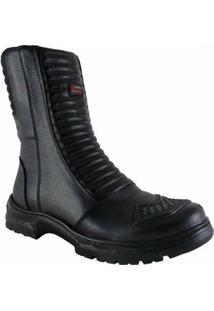 Bota Atron Shoes Coturno Motociclista - Masculino-Preto