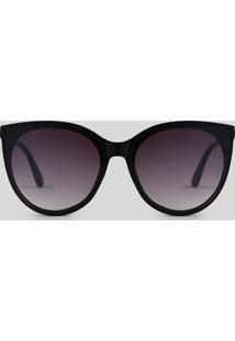 Óculos De Sol Redondo Feminino Oneself Preto - Único