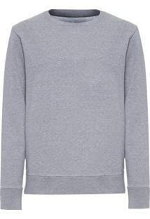 Moletom Masculino Fleece E-Basics - Cinza