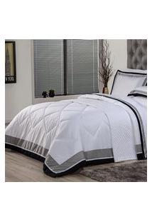 Edredom Queen Plumasul Soft Comfort 240X260Cm Microfibra Branco
