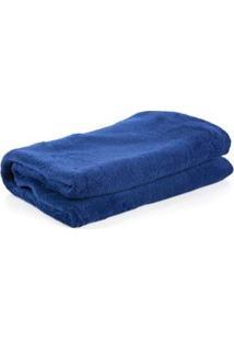 Cobertor Infantil Viagem Parahyba Em Microfibra Com 1 Peça - Azul Marinho