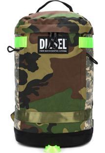 Diesel Mochila Camo - Verde