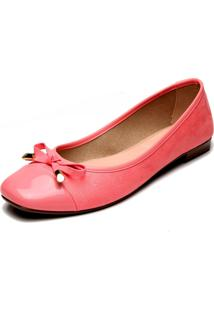 Sapatilha Moleca Verniz Pink