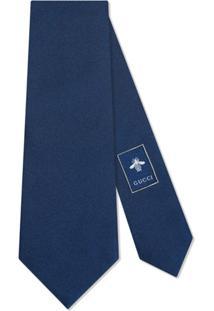 Gucci Gravata 'Kingsnake' De Seda - Azul