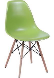Cadeira Eames Dkr- Verde & Madeira- 80,5X46,5X42Cm