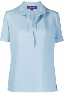 Ralph Lauren Collection Blusa Clarisa De Crepe - Azul