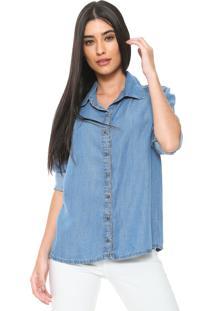 Camisa Jeans Enna Comfort Azul