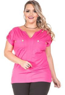 Blusa Domenica Solazzo Pink Plus Size