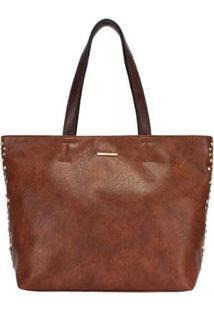 Bolsa Shopping Bag Metais Mormaii - Feminino-Marrom