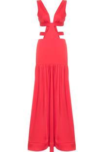 Vestido Longo Lara - Vermelho