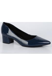 2eb3c18531 Scarpin Azul Bebece feminino
