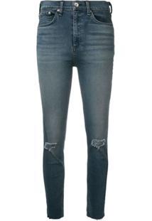 Rag & Bone Calça Jeans Skinny Desgastada - Azul