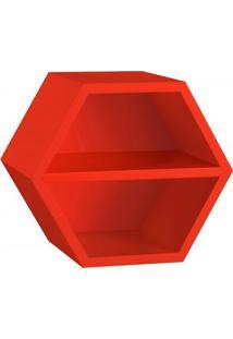 Nicho Hexagonal 1 Prateleira Favo Maxima Vermelho