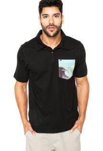 Camisa Polo Hang Loose Wave Preta