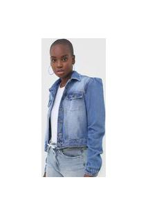 Jaqueta Jeans My Favorite Thing(S) Mangas Bufantes Azul